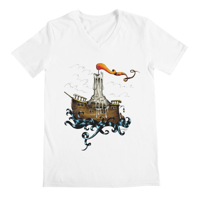 sail boat Men's V-Neck by irrthum's Shop