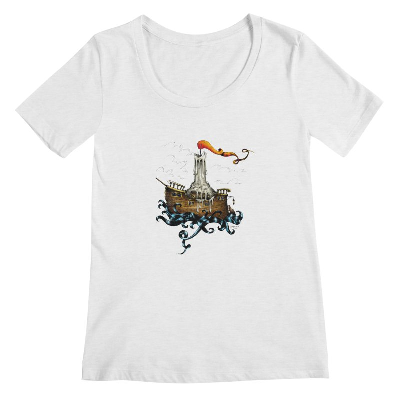 sail boat Women's Scoopneck by irrthum's Shop