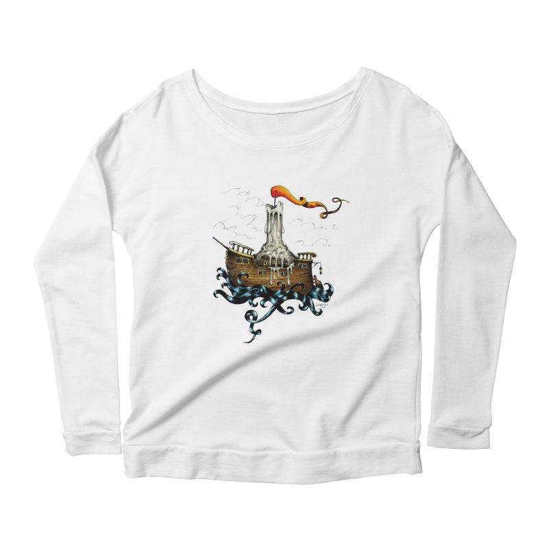 sail boat Women's Longsleeve Scoopneck  by irrthum's Shop