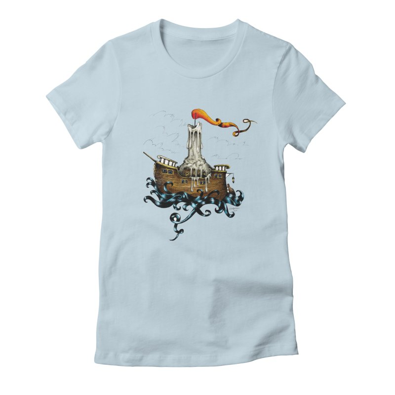 sail boat Women's Fitted T-Shirt by irrthum's Shop