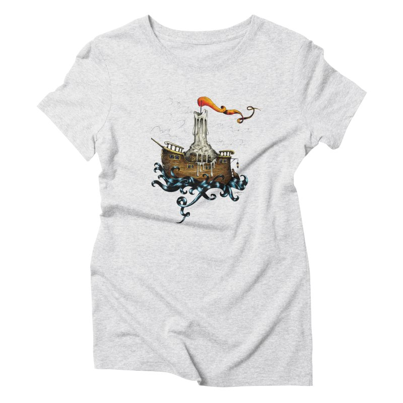 sail boat Women's Triblend T-Shirt by irrthum's Shop