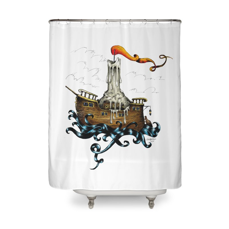 sail boat Home Shower Curtain by irrthum's Shop