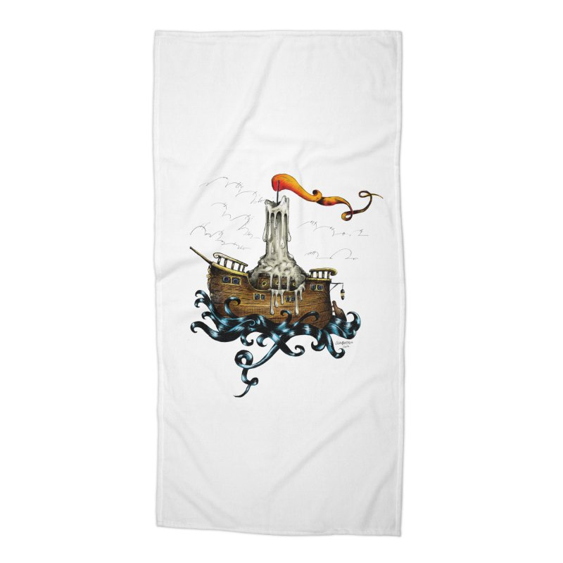 sail boat Accessories Beach Towel by irrthum's Shop
