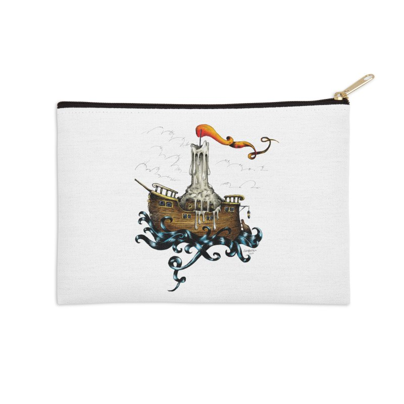 sail boat Accessories Zip Pouch by irrthum's Shop