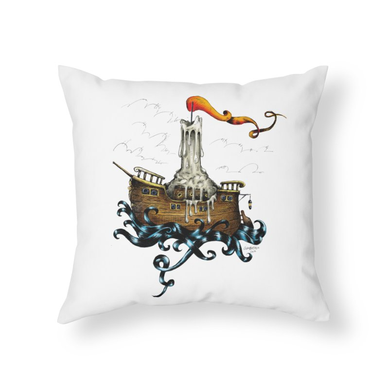 sail boat Home Throw Pillow by irrthum's Shop