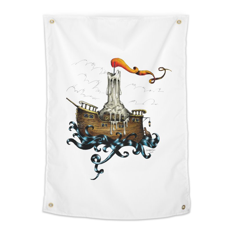 sail boat Home Tapestry by irrthum's Shop