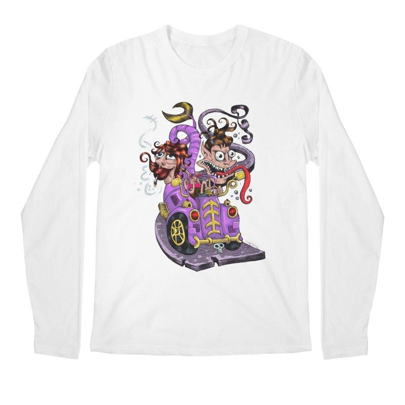 Fish tail car Men's Longsleeve T-Shirt by irrthum's Shop