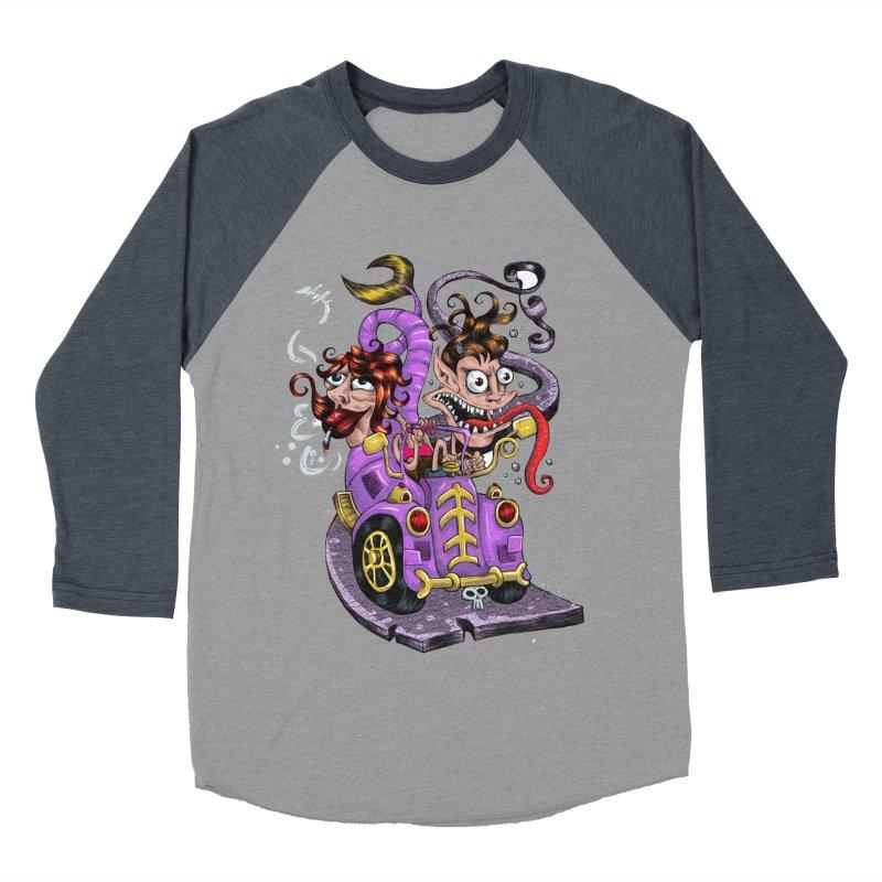 Fish tail car Women's Baseball Triblend T-Shirt by irrthum's Shop