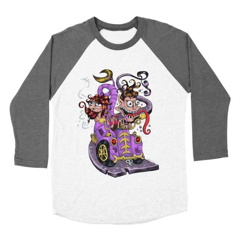 Fish tail car Men's Baseball Triblend T-Shirt by irrthum's Shop