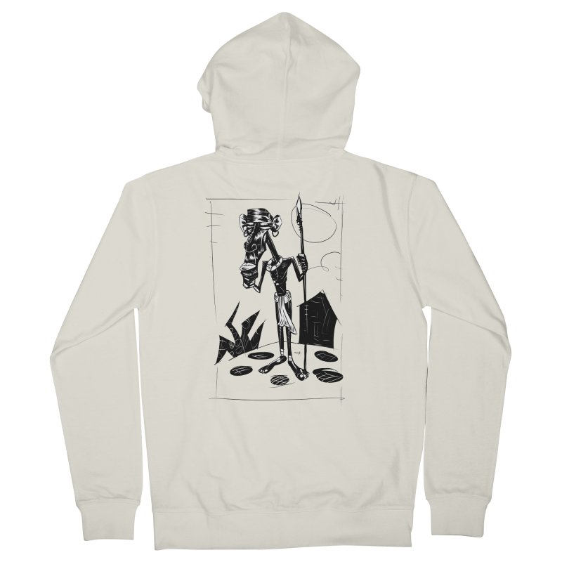 AFRICAN WARRIOR Men's Zip-Up Hoody by irrthum's Shop