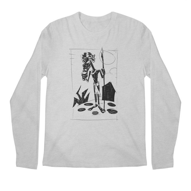 AFRICAN WARRIOR Men's Longsleeve T-Shirt by irrthum's Shop