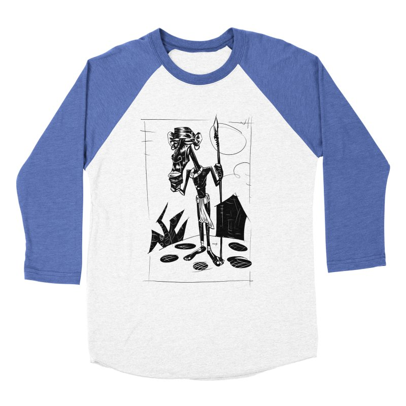 AFRICAN WARRIOR Women's Baseball Triblend T-Shirt by irrthum's Shop