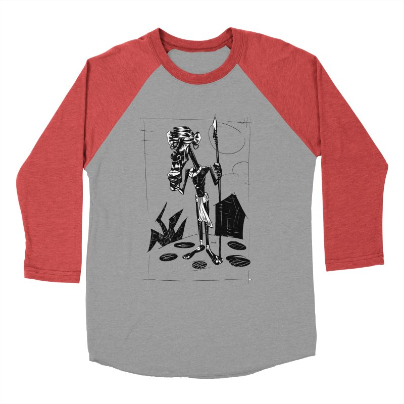 AFRICAN WARRIOR Men's Baseball Triblend T-Shirt by irrthum's Shop