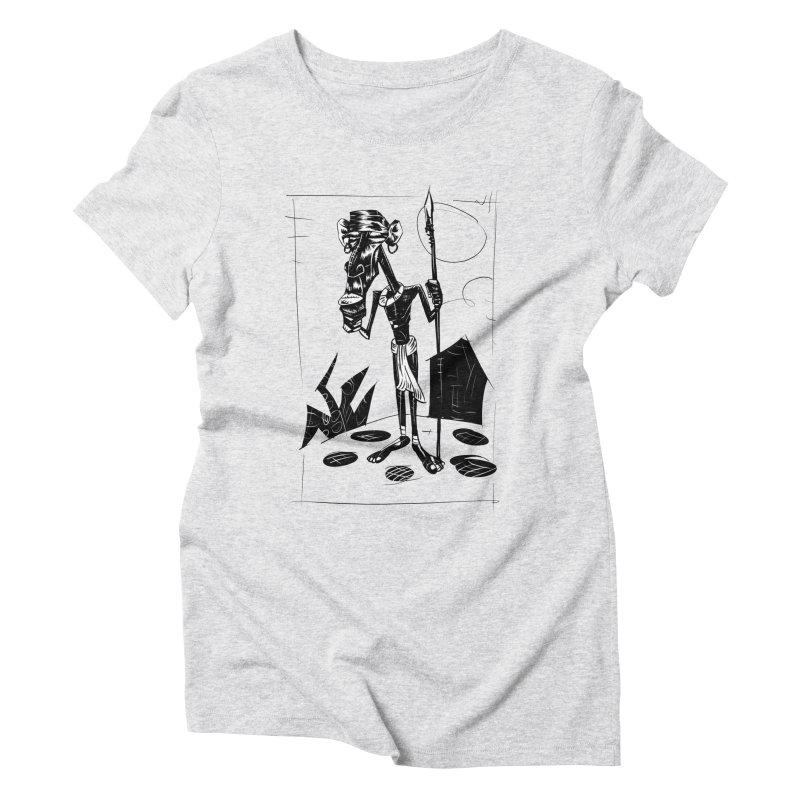 AFRICAN WARRIOR Women's Triblend T-Shirt by irrthum's Shop
