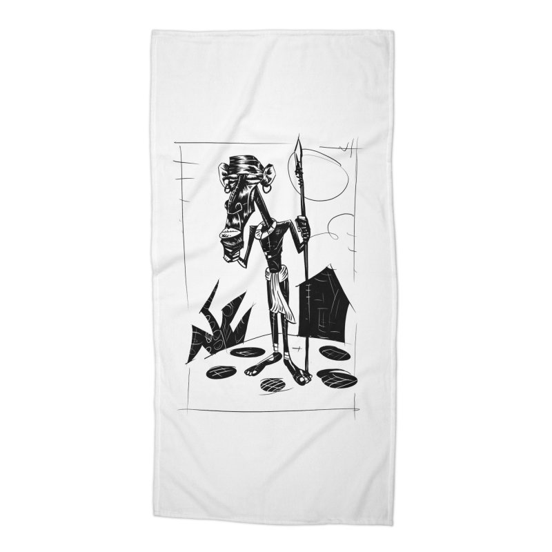 AFRICAN WARRIOR Accessories Beach Towel by irrthum's Shop
