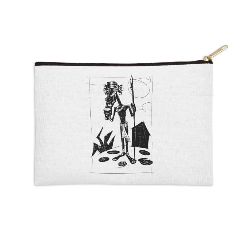 AFRICAN WARRIOR Accessories Zip Pouch by irrthum's Shop