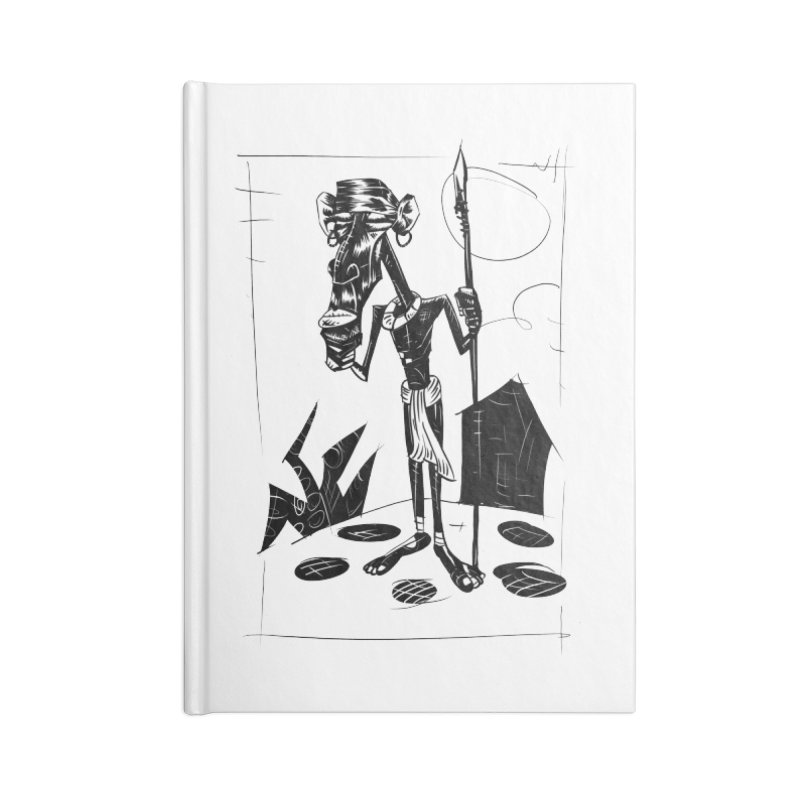 AFRICAN WARRIOR Accessories Notebook by irrthum's Shop