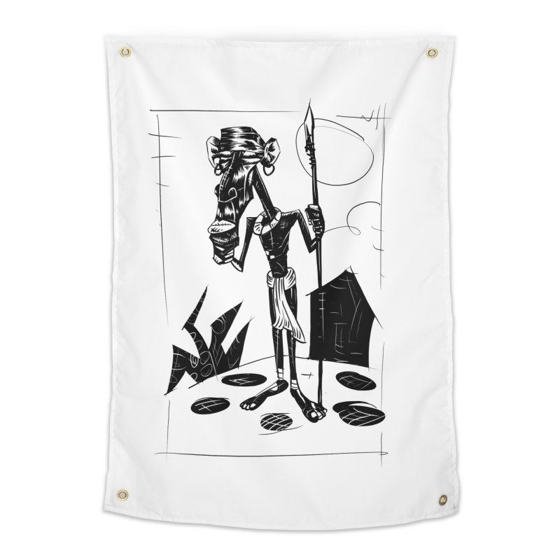 AFRICAN WARRIOR Home Tapestry by irrthum's Shop