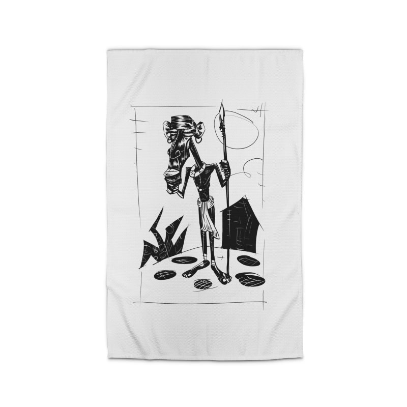 AFRICAN WARRIOR Home Rug by irrthum's Shop