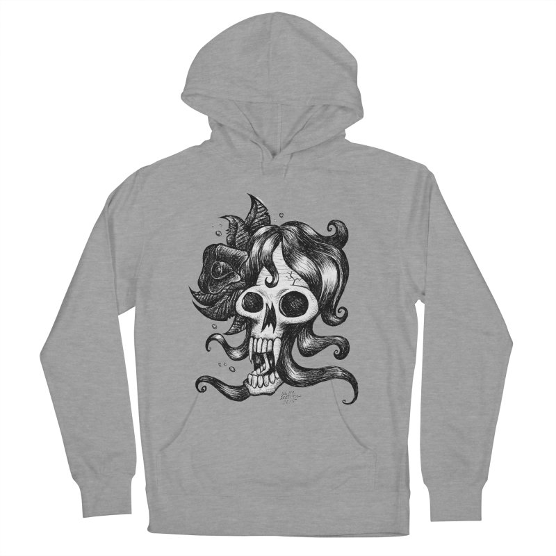 skull woman Women's Pullover Hoody by irrthum's Shop