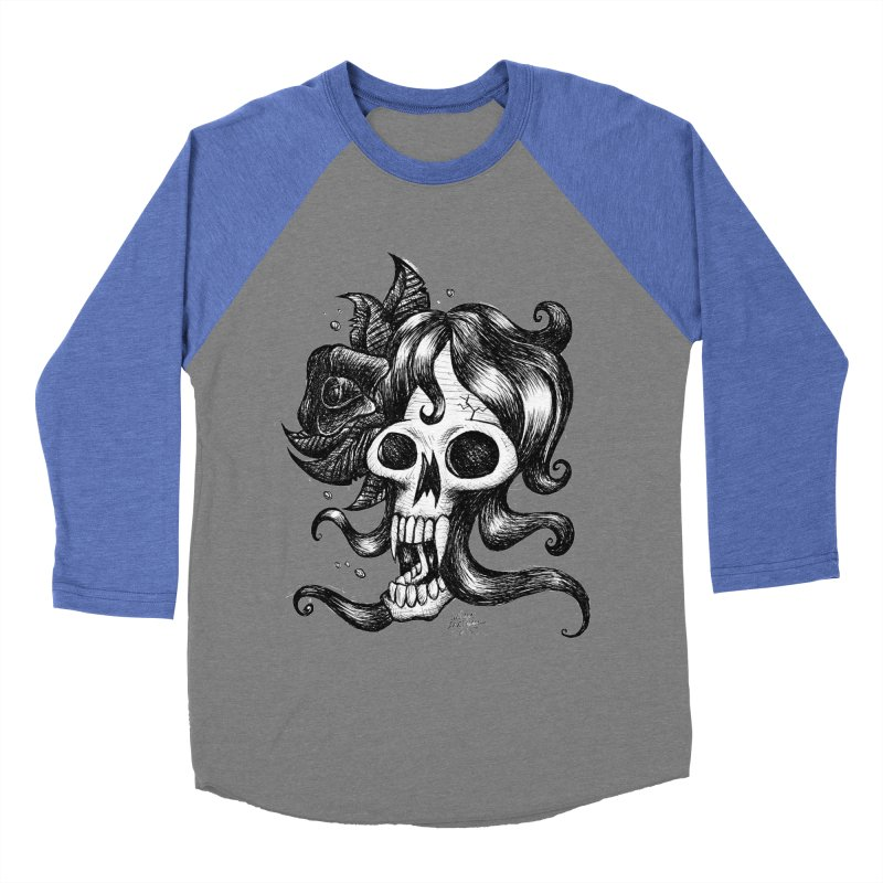 skull woman Women's Baseball Triblend T-Shirt by irrthum's Shop