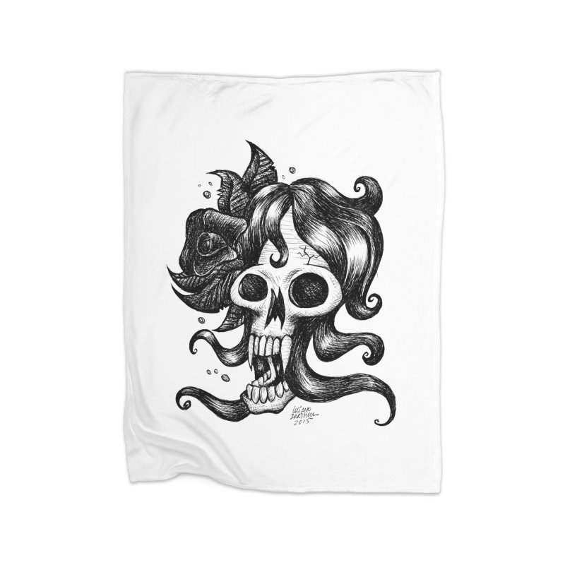 skull woman Home Blanket by irrthum's Shop