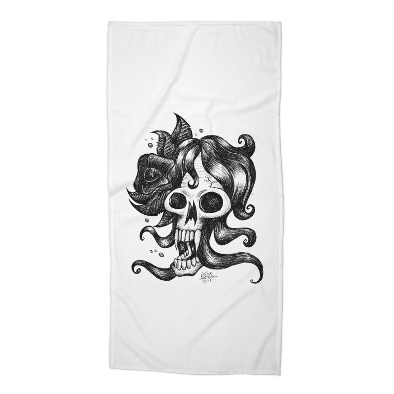 skull woman Accessories Beach Towel by irrthum's Shop