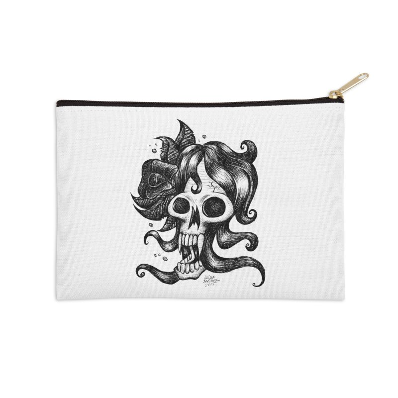 skull woman Accessories Zip Pouch by irrthum's Shop