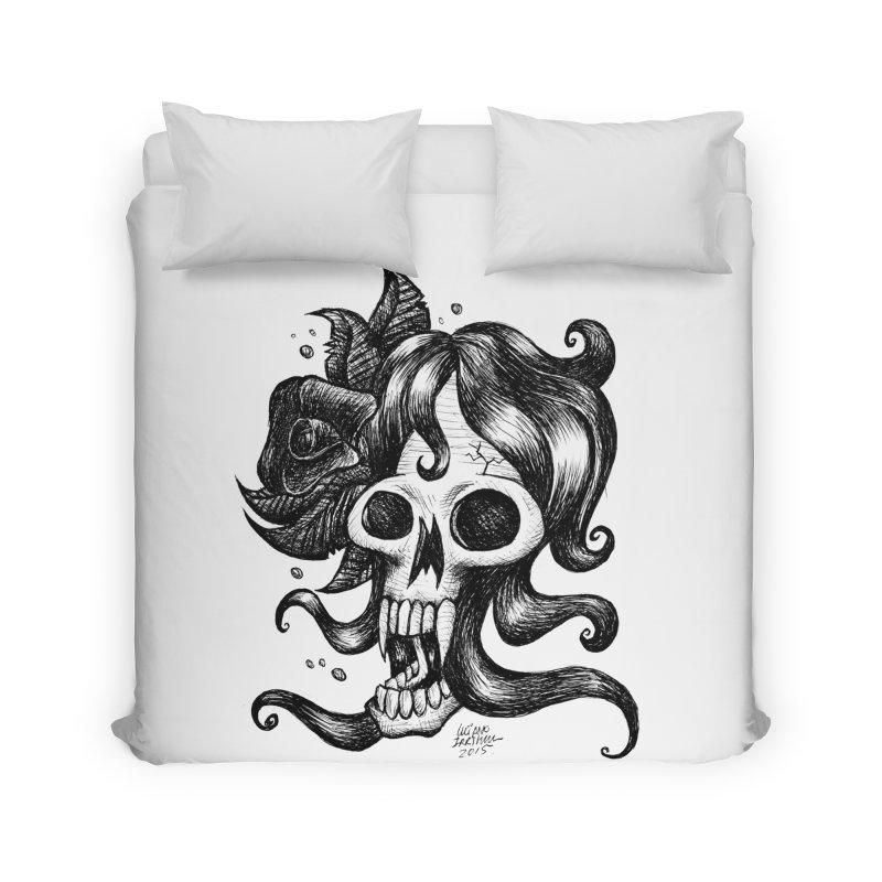skull woman Home Duvet by irrthum's Shop