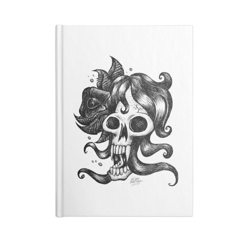 skull woman Accessories Notebook by irrthum's Shop