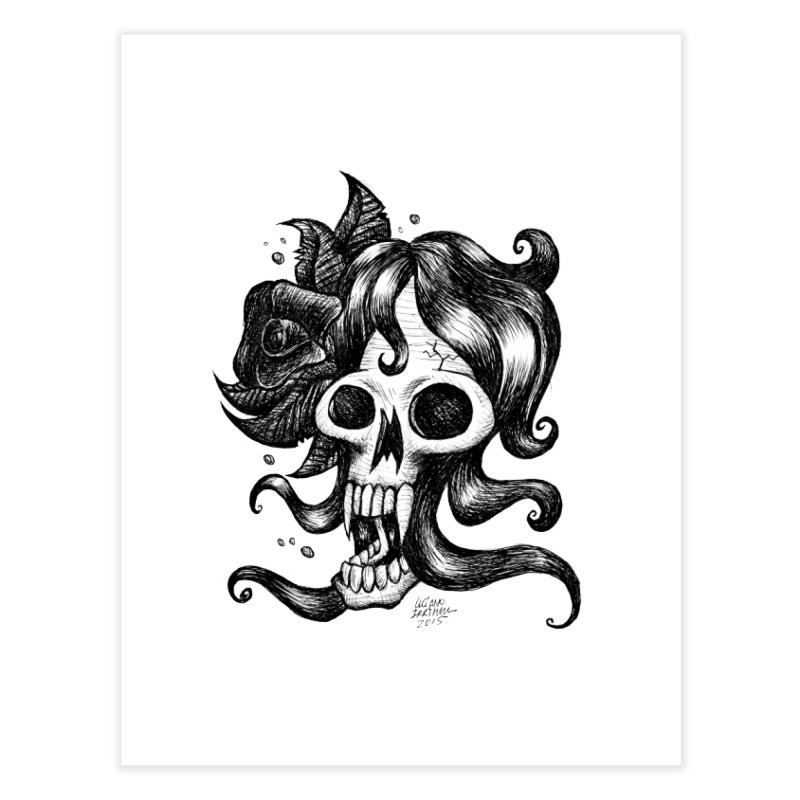 skull woman Home Fine Art Print by irrthum's Shop