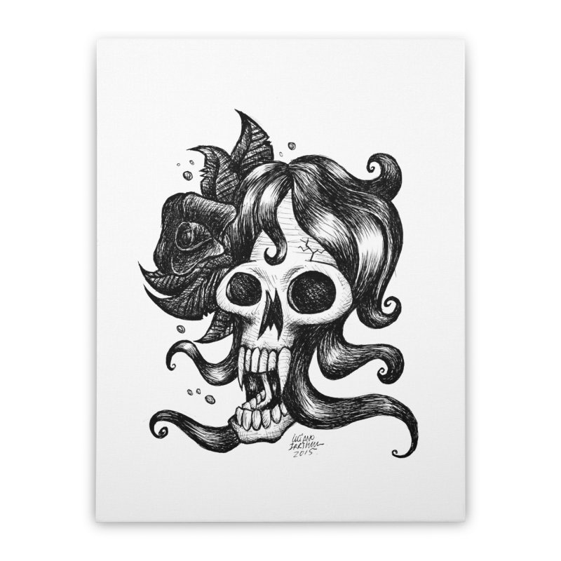 skull woman Home Stretched Canvas by irrthum's Shop