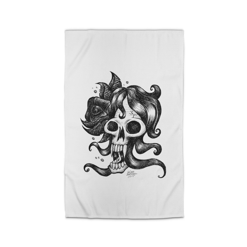 skull woman Home Rug by irrthum's Shop