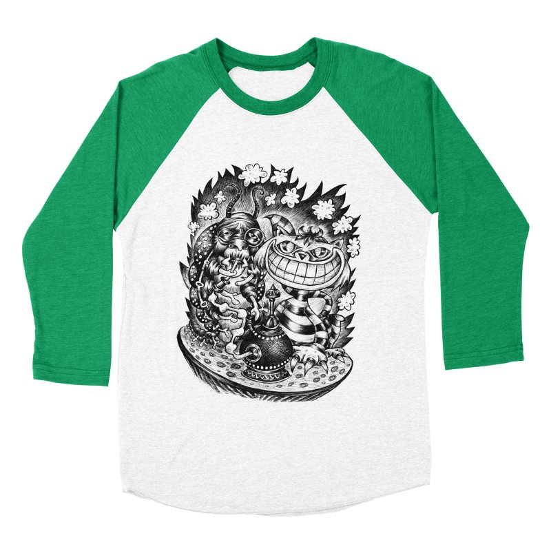 cat and friend Women's Baseball Triblend T-Shirt by irrthum's Shop