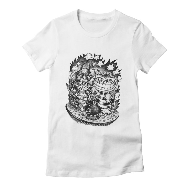 cat and friend Women's Fitted T-Shirt by irrthum's Shop