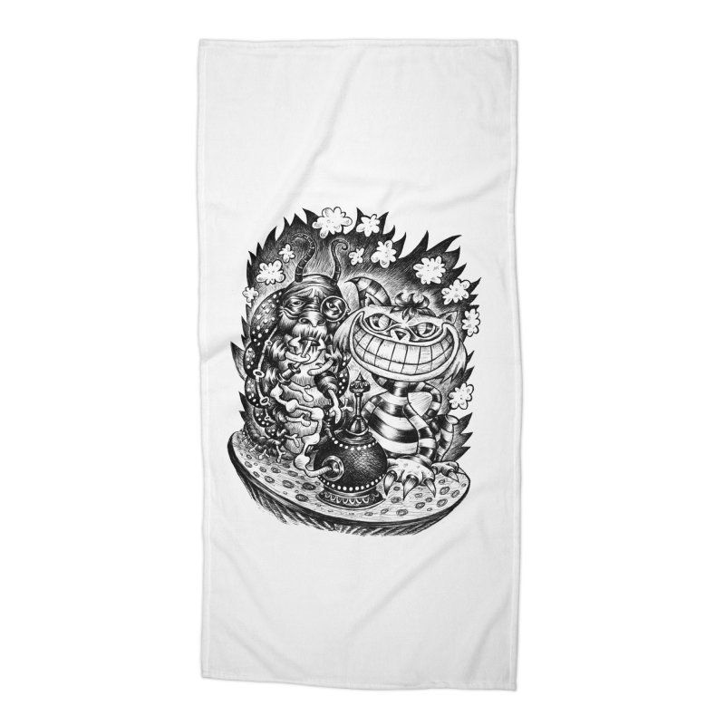 cat and friend Accessories Beach Towel by irrthum's Shop