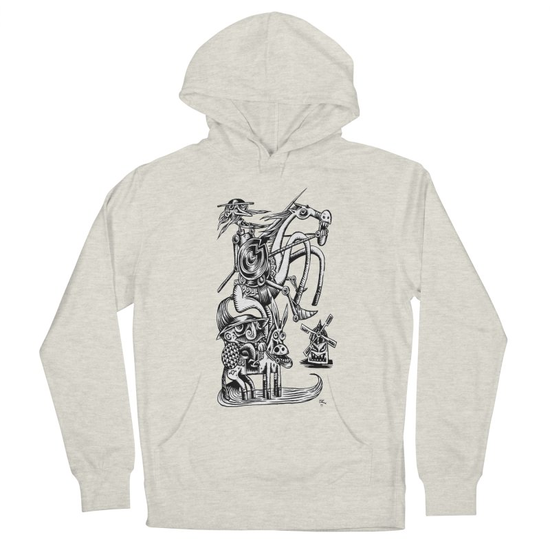 D quixote e sancho Men's Pullover Hoody by irrthum's Shop