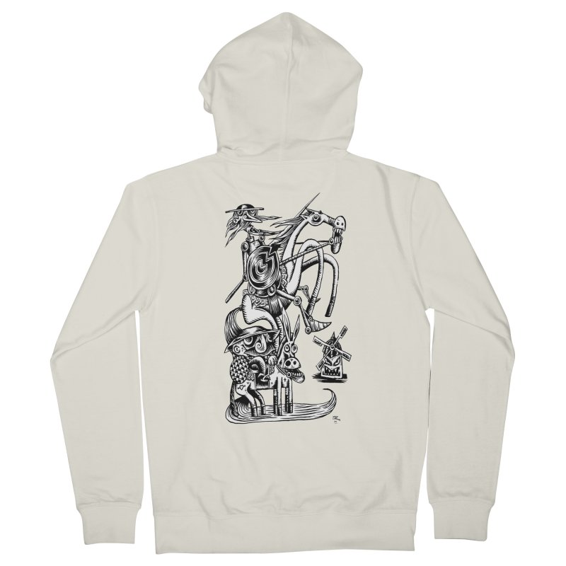 D quixote e sancho Men's Zip-Up Hoody by irrthum's Shop