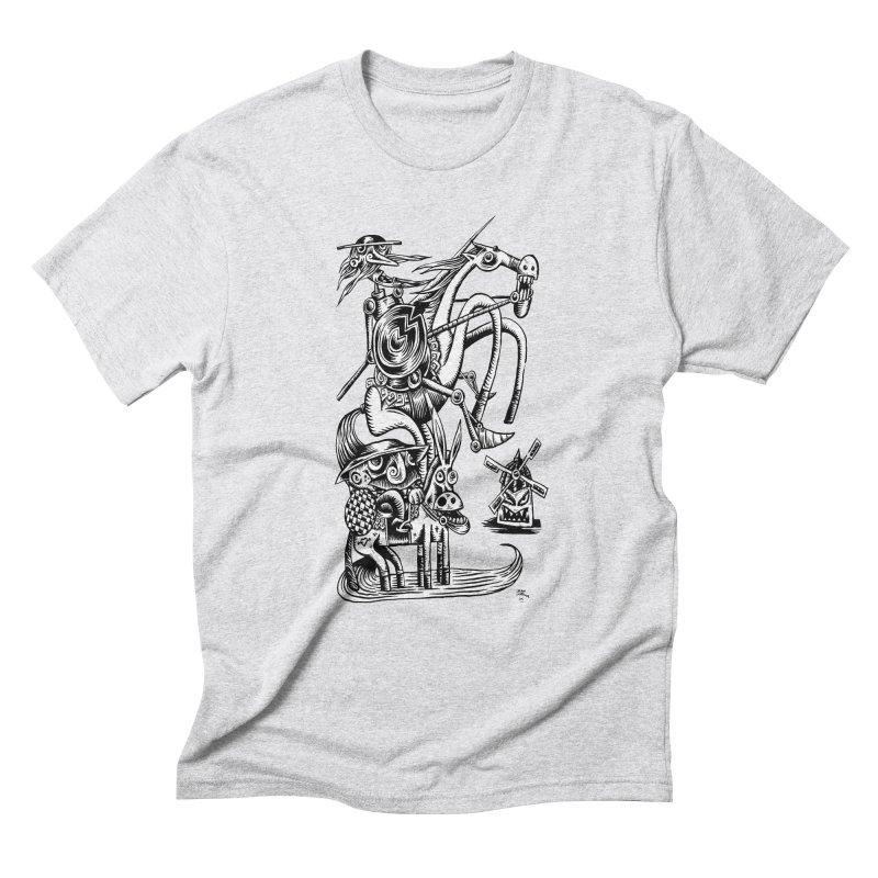 D quixote e sancho Men's Triblend T-Shirt by irrthum's Shop