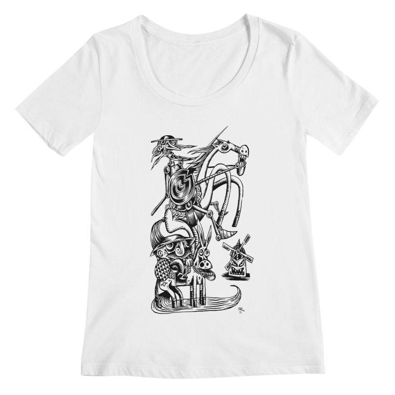 D quixote e sancho Women's Scoopneck by irrthum's Shop
