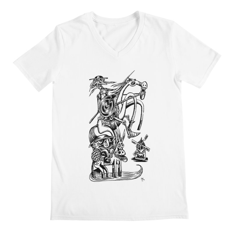 D quixote e sancho Men's V-Neck by irrthum's Shop