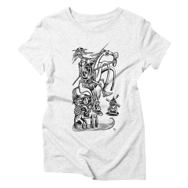 D quixote e sancho Women's Triblend T-shirt by irrthum's Shop