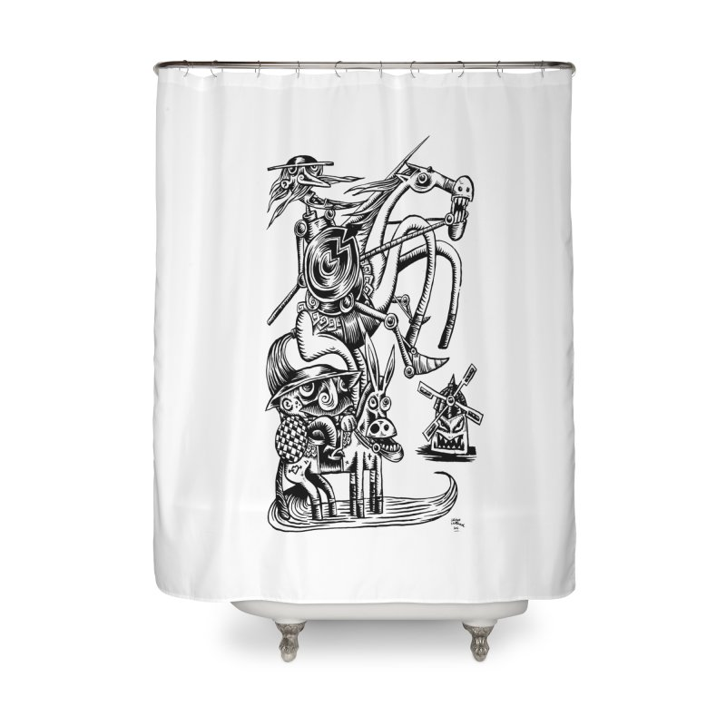 D quixote e sancho Home Shower Curtain by irrthum's Shop