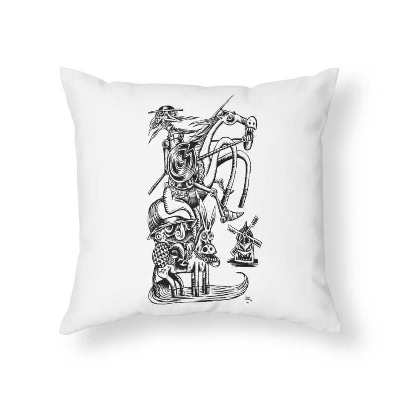 D quixote e sancho Home Throw Pillow by irrthum's Shop