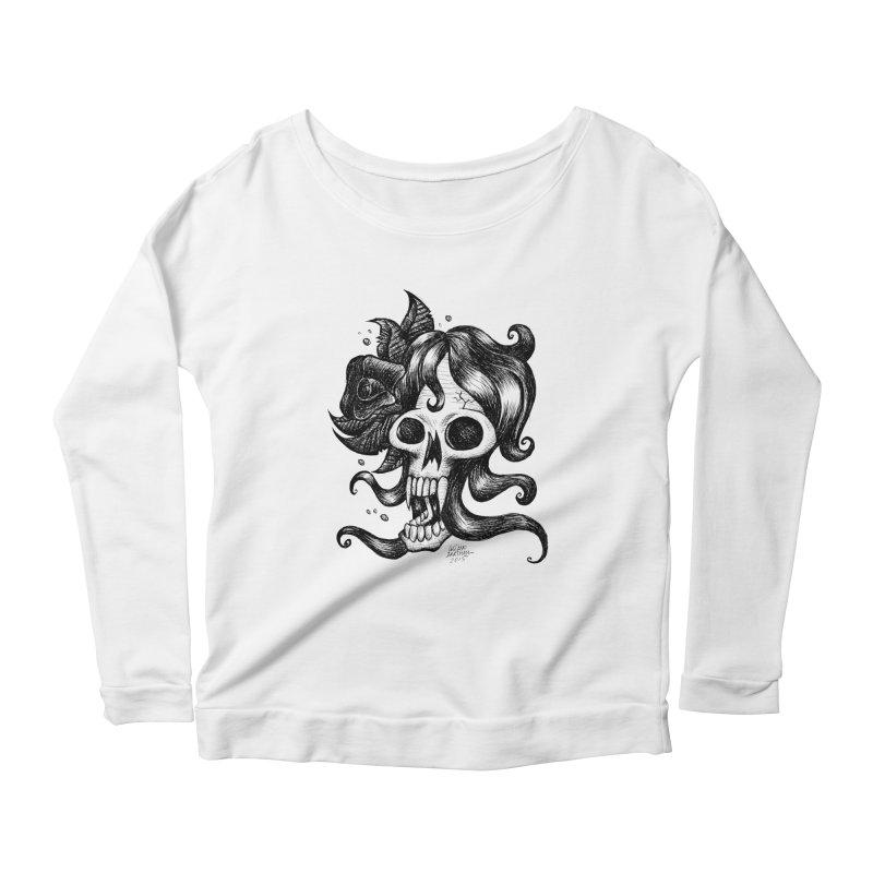 skull Women's Longsleeve Scoopneck  by irrthum's Shop