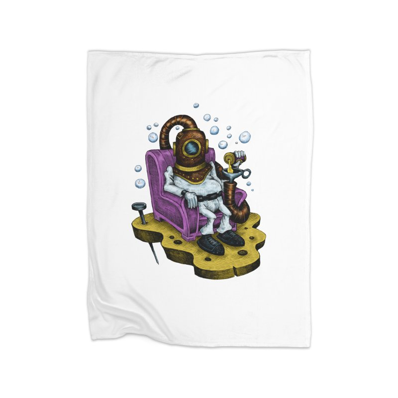 Strong man Home Blanket by irrthum's Shop