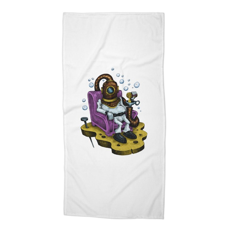 Strong man Accessories Beach Towel by irrthum's Shop