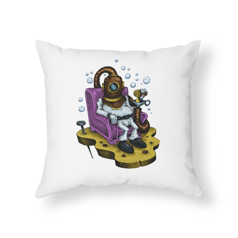 Strong man Home Throw Pillow by irrthum's Shop