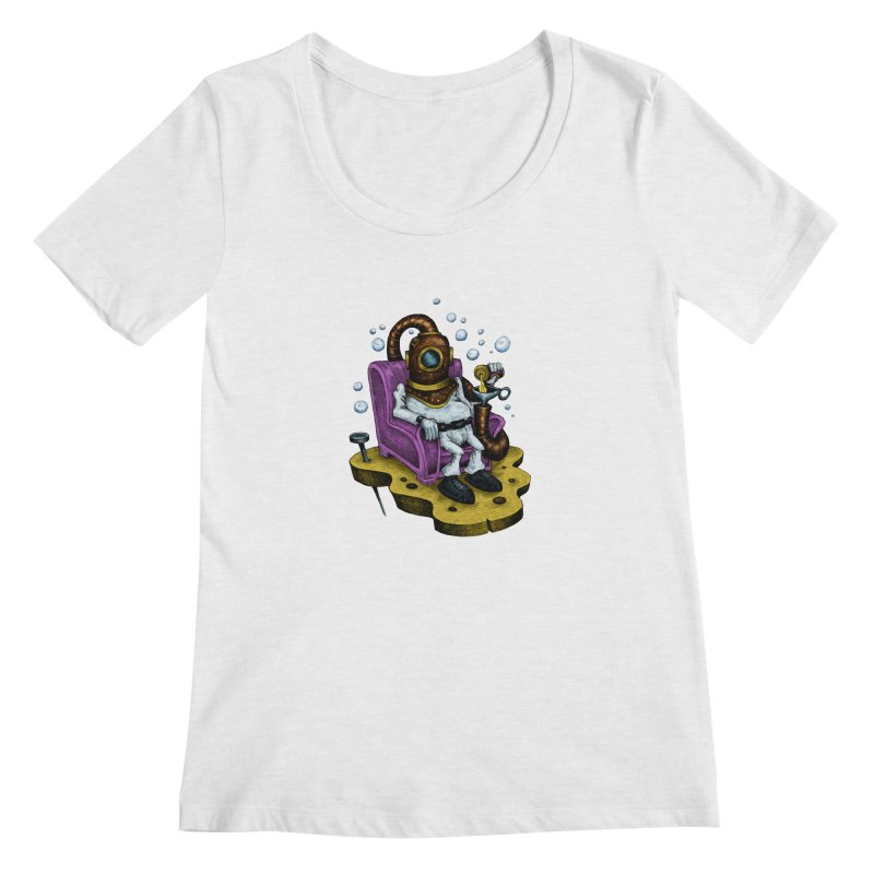Strong man Women's Scoopneck by irrthum's Shop