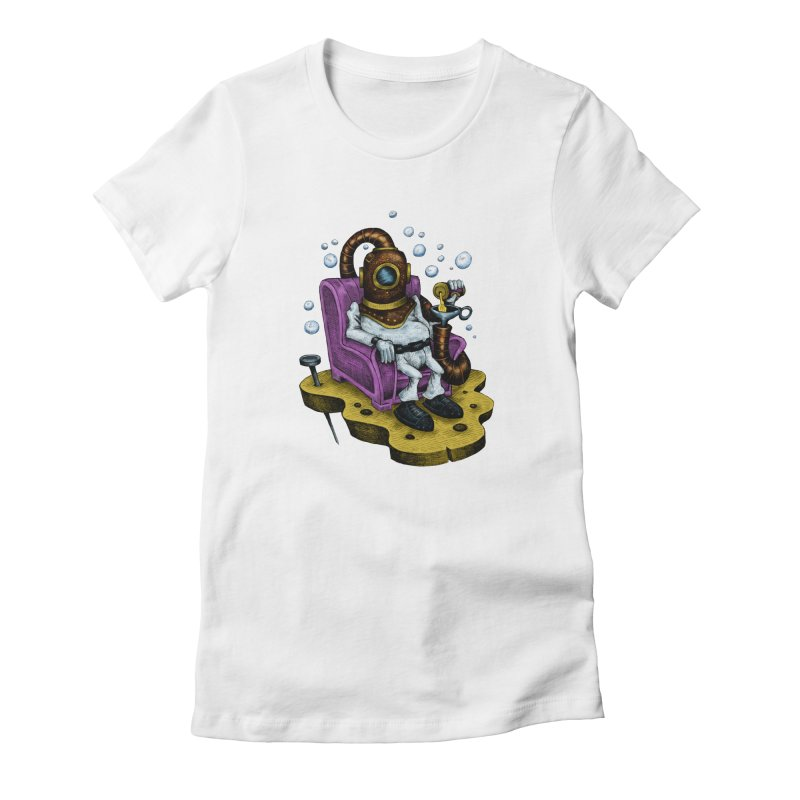 Strong man Women's Fitted T-Shirt by irrthum's Shop